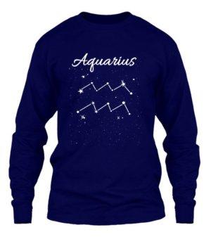 Constellation-Aquarius Tshirt, Men's Long Sleeves T-shirt