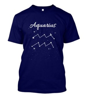 Constellation-Aquarius Tshirt, Men's Round T-shirt