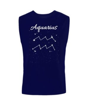 Constellation-Aquarius Tshirt, Men's Sleeveless T-shirt