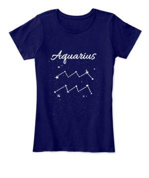Constellation-Aquarius Tshirt, Women's Round Neck T-shirt