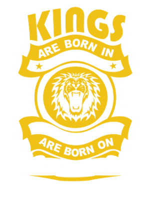 Real Kings are born on January 01-31, Men's Round T-shirt