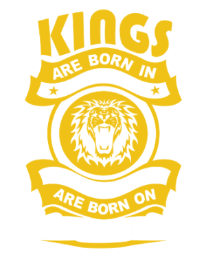 Real Kings are born on July 01-31, Kid's Unisex Round Neck T-shirt