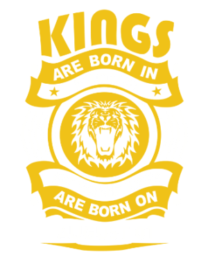 Real Kings are born on August 01-31, Kid's Unisex Round Neck T-shirt