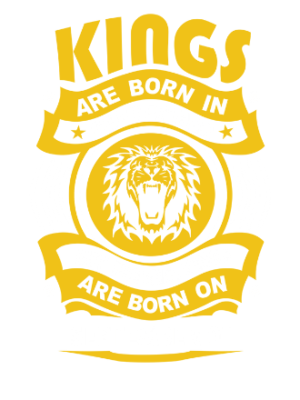 Real Kings are born on September 01-30, Men's Round T-shirt