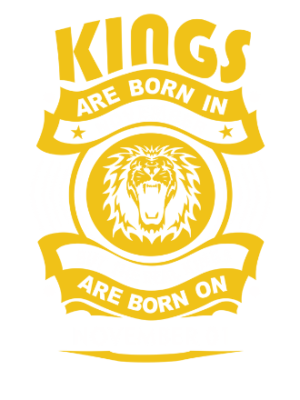Real Kings are born on November 01-30, Men's Round T-shirt