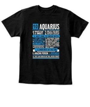 Aquarius Facts Tshirt, Kid's Unisex Round Neck T-shirt