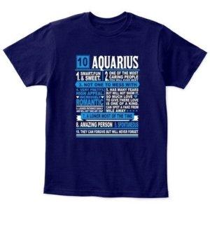 Aquarius Facts Tshirt, Kid's Unisex Round Neck T-shirt