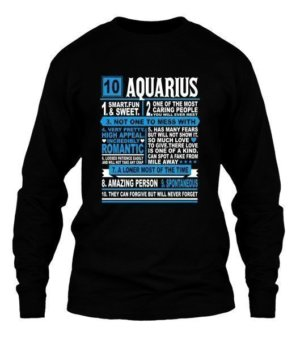 Aquarius Facts Tshirt, Men's Long Sleeves T-shirt