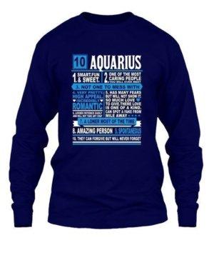 Aquarius Facts Tshirt, Men's Long Sleeves T-shirt
