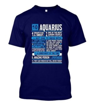 Aquarius Facts Tshirt, Men's Round T-shirt