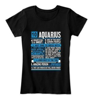 Aquarius Facts Tshirt, Women's Round Neck T-shirt