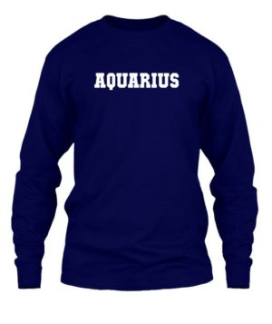 AQUARIUS, Men's Long Sleeves T-shirt