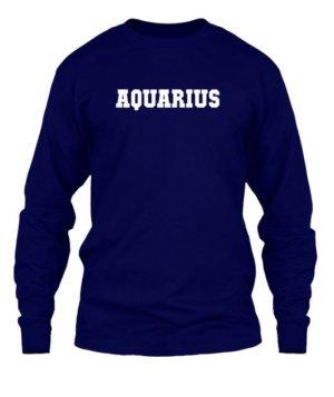 AQUARIUS, Men's Long Sleeves T-shirt