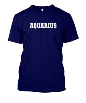 AQUARIUS, Men's Round T-shirt