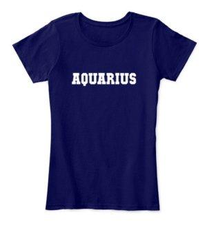 AQUARIUS, Women's Round Neck T-shirt
