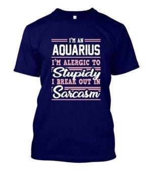 Aquarius-Funny Tshirt, Men's Round T-shirt