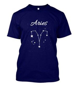 Constellation-Aries Tshirt, Men's Round T-shirt