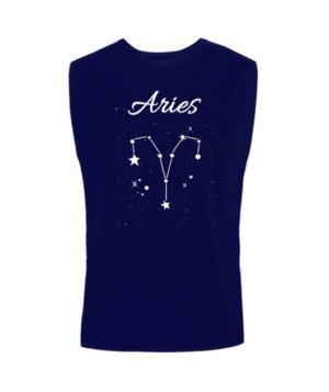 Constellation-Aries Tshirt, Men's Sleeveless T-shirt