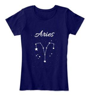 Constellation-Aries Tshirt, Women's Round Neck T-shirt