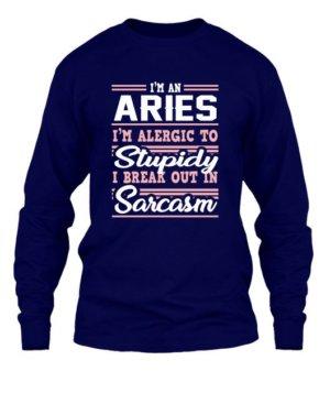 Aries-Funny Tshirt, Men's Long Sleeves T-shirt