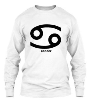 Cancer Symbol, Men's Long Sleeves T-shirt