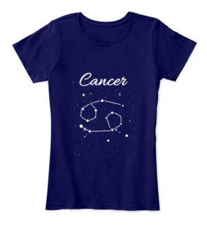 Constellation-Cancer Tshirt, Women's Round Neck T-shirt