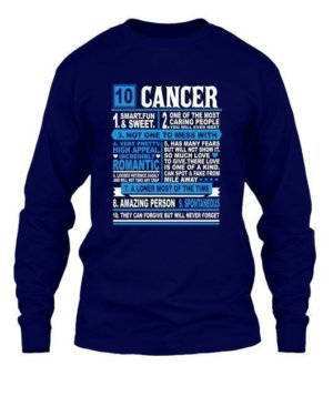 Cancer Facts Tshirt, Men's Long Sleeves T-shirt
