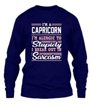 Capricorn-Funny Tshirt, Men's Long Sleeves T-shirt