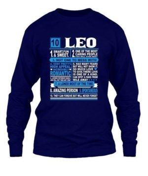 Leo Facts Tshirt, Men's Round T-shirt