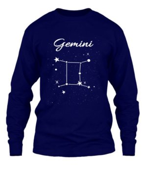 Constellation-Gemini Tshirt, Men's Long Sleeves T-shirt