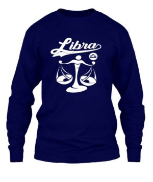 Libra Tshirt, Men's Long Sleeves T-shirt