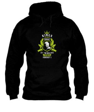 Buy Kings are born on February 1-29, Men's Hoodies