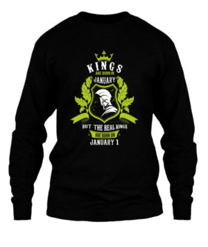 Buy Kings are born on January 1-31, Men's Long Sleeves T-shirt