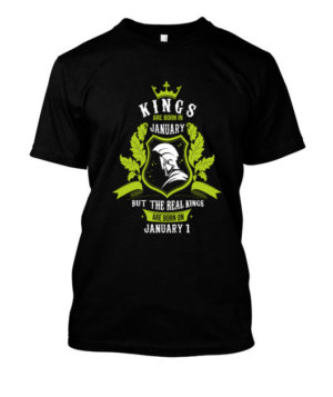 Buy Kings are born on January 1-31, Men's Round T-shirt