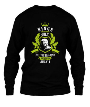 Buy Kings are born on July 1-31 , Men's Long Sleeves T-shirt