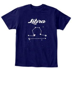 Constellation-Libra Tshirt, Kid's Unisex Round Neck T-shirt