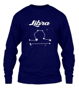 Constellation-Libra Tshirt, Men's Long Sleeves T-shirt