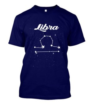 Constellation-Libra Tshirt, Men's Round T-shirt