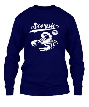 Scorpio Tshirt, Men's Long Sleeves T-shirt