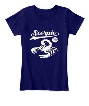 Scorpio Tshirt, Women's Round Neck T-shirt
