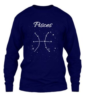 Constellation-Pisces Tshirt, Men's Long Sleeves T-shirt
