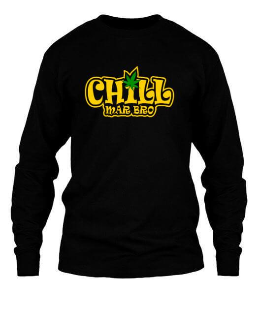 Chill Mar Bro, Men's Long Sleeves T-shirt