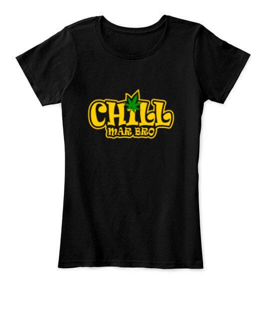 Chill Mar Bro, Women's Round Neck T-shirt