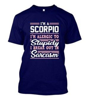 Scorpio-Funny Tshirt, Men's Round T-shirt