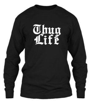 Thug Life, Men's Long Sleeves T-shirt
