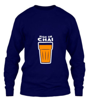 HIGH ON CHAI, Men's Long Sleeves T-shirt