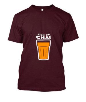 HIGH ON CHAI, Women's Round Neck T-shirt