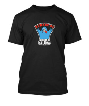 BEWARE OF SHARMA JI KA LADKA, Men's Round T-shirt