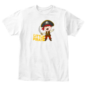 Little Pirate , Kid's Unisex Round Neck T-shirt
