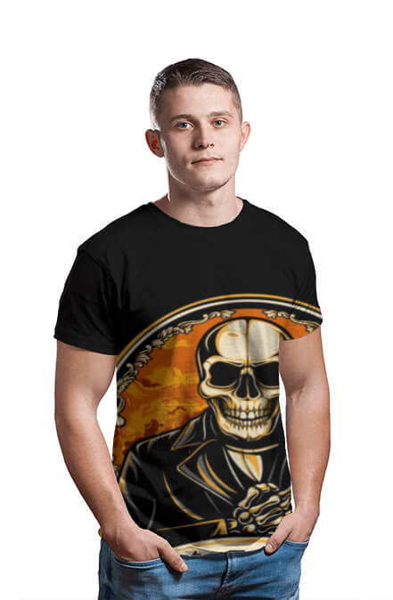 AOP, mens round tshirt